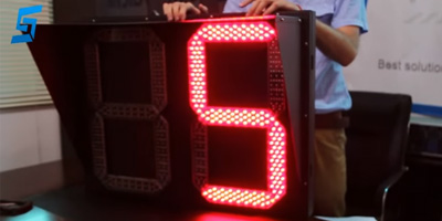 800*600mm 2 Digits Tri-color Countdown Timer