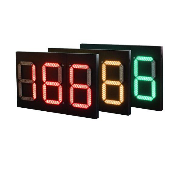 Square Metal Countdown Timer Traffic Light