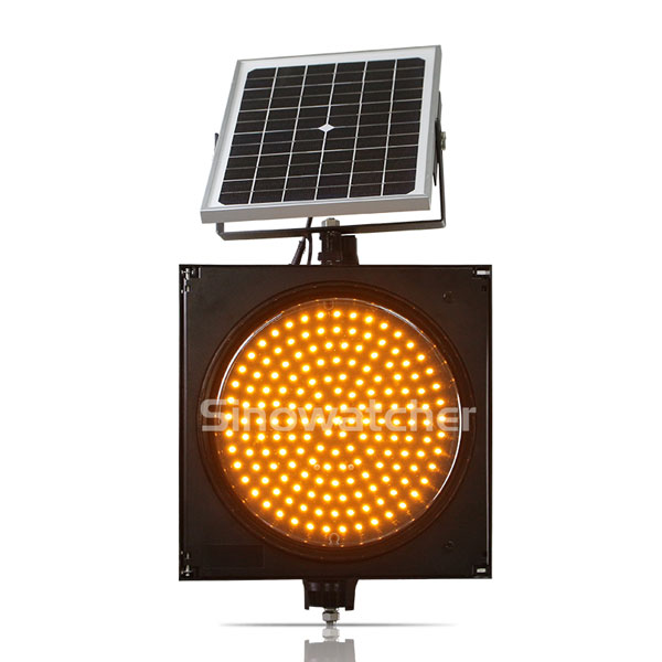 200mm/300mm Red/Yellow One Unit Solar Warning Flashing Light