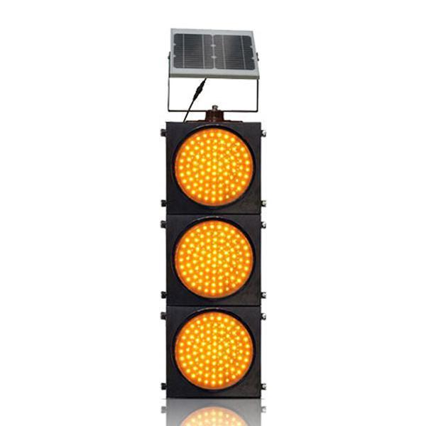 200mm/300mm Red/Yellow Three Units Solar Warning Flashing Light
